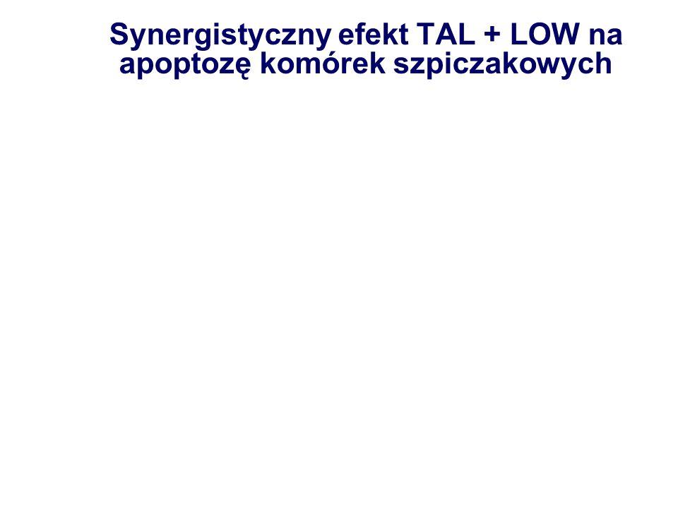 Synergistyczny efekt TAL + LOW na apoptozę komórek szpiczakowych