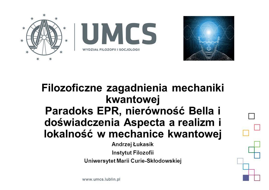 Filozoficzne zagadnienia mechaniki kwantowej