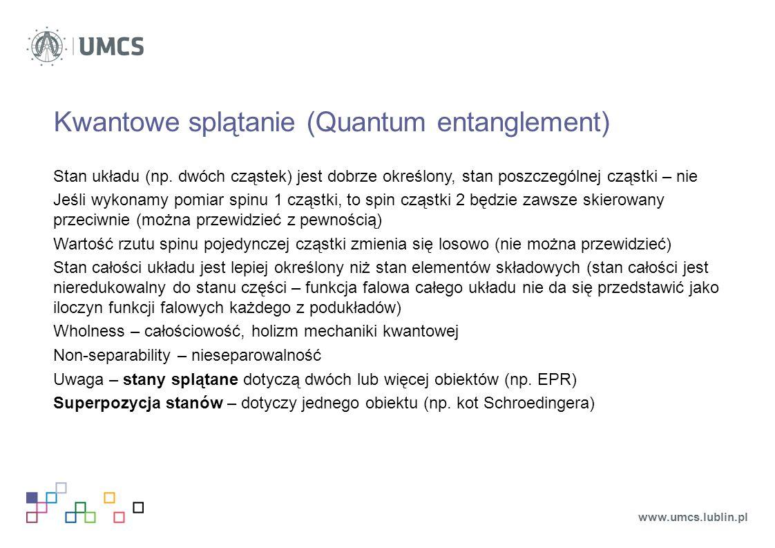 Kwantowe splątanie (Quantum entanglement)