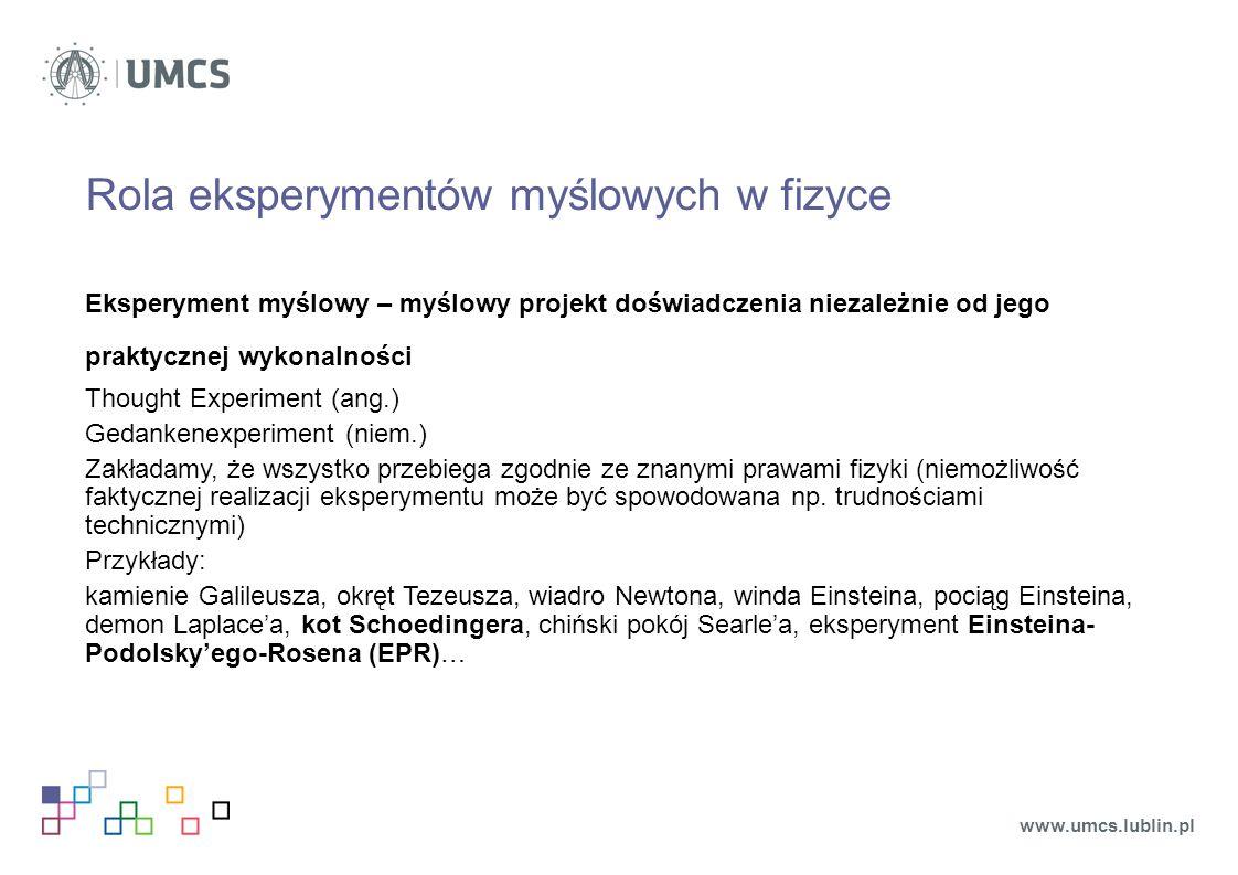 Rola eksperymentów myślowych w fizyce