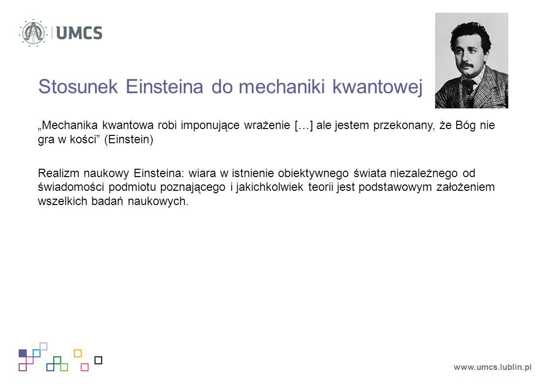Stosunek Einsteina do mechaniki kwantowej