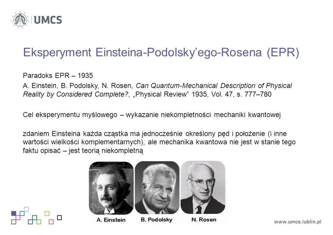 Eksperyment Einsteina-Podolsky'ego-Rosena (EPR)