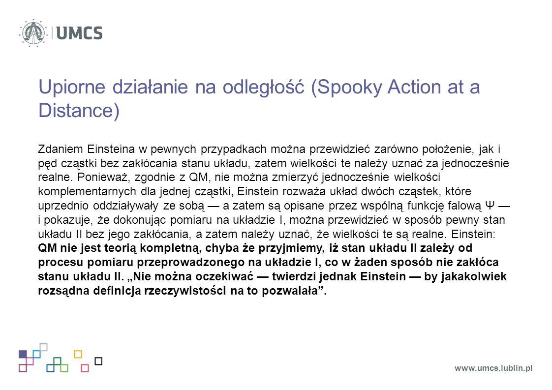 Upiorne działanie na odległość (Spooky Action at a Distance)