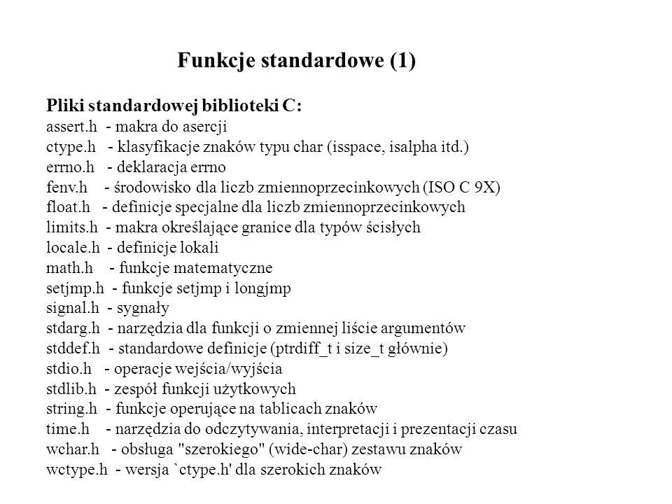Funkcje standardowe (1)