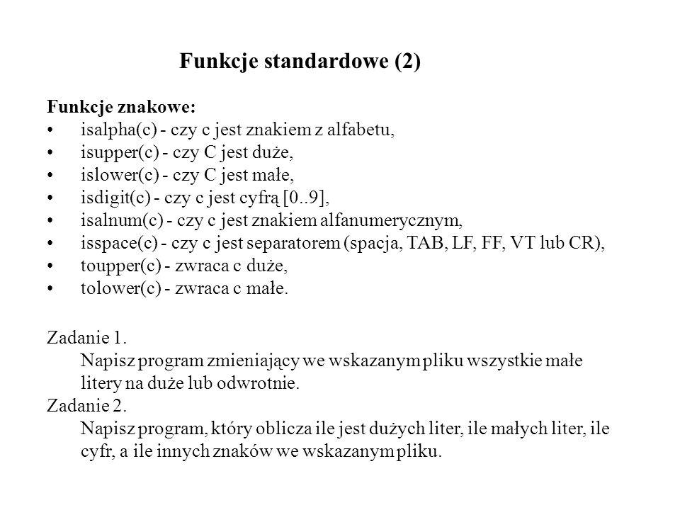 Funkcje standardowe (2)