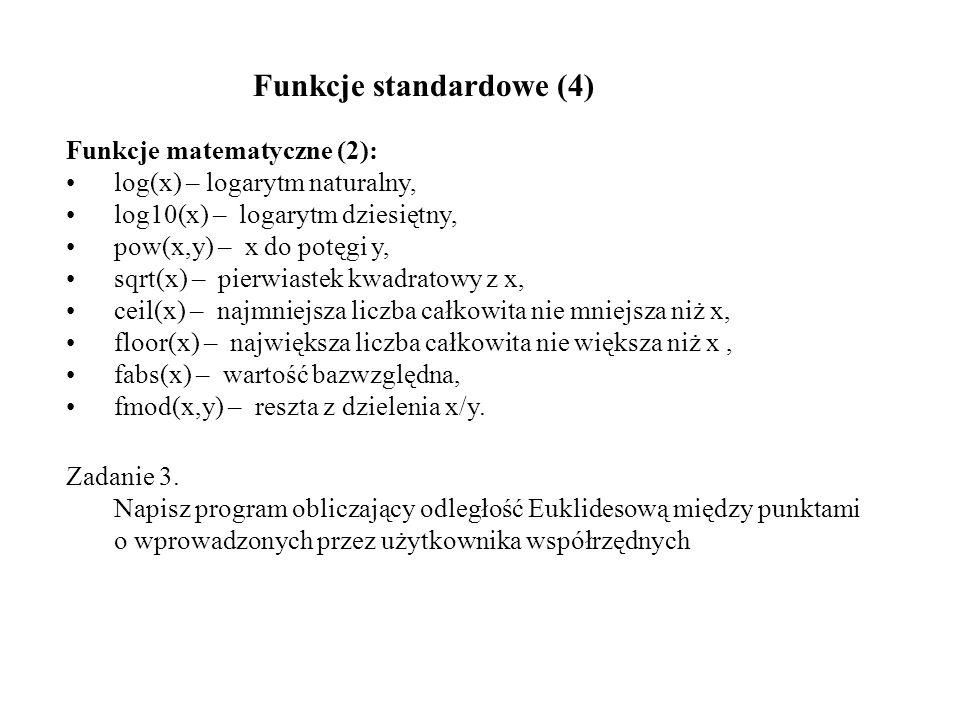 Funkcje standardowe (4)