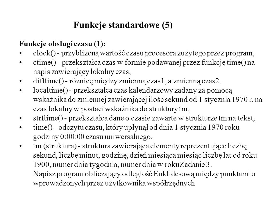 Funkcje standardowe (5)
