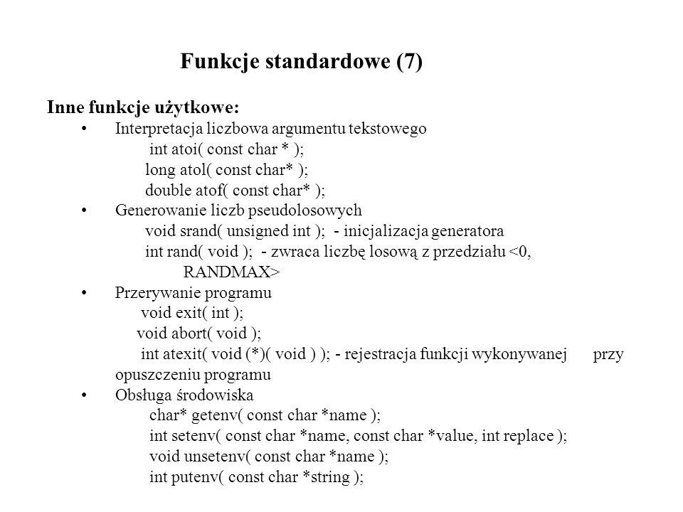 Funkcje standardowe (7)