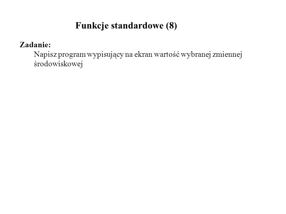 Funkcje standardowe (8)