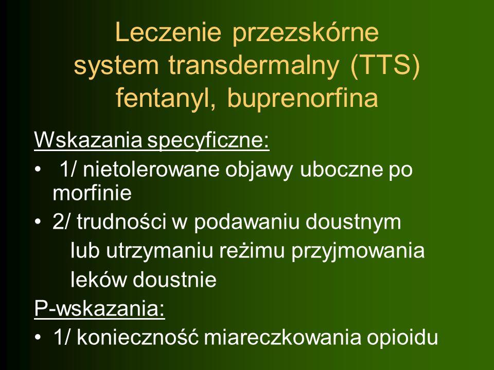 Leczenie przezskórne system transdermalny (TTS) fentanyl, buprenorfina
