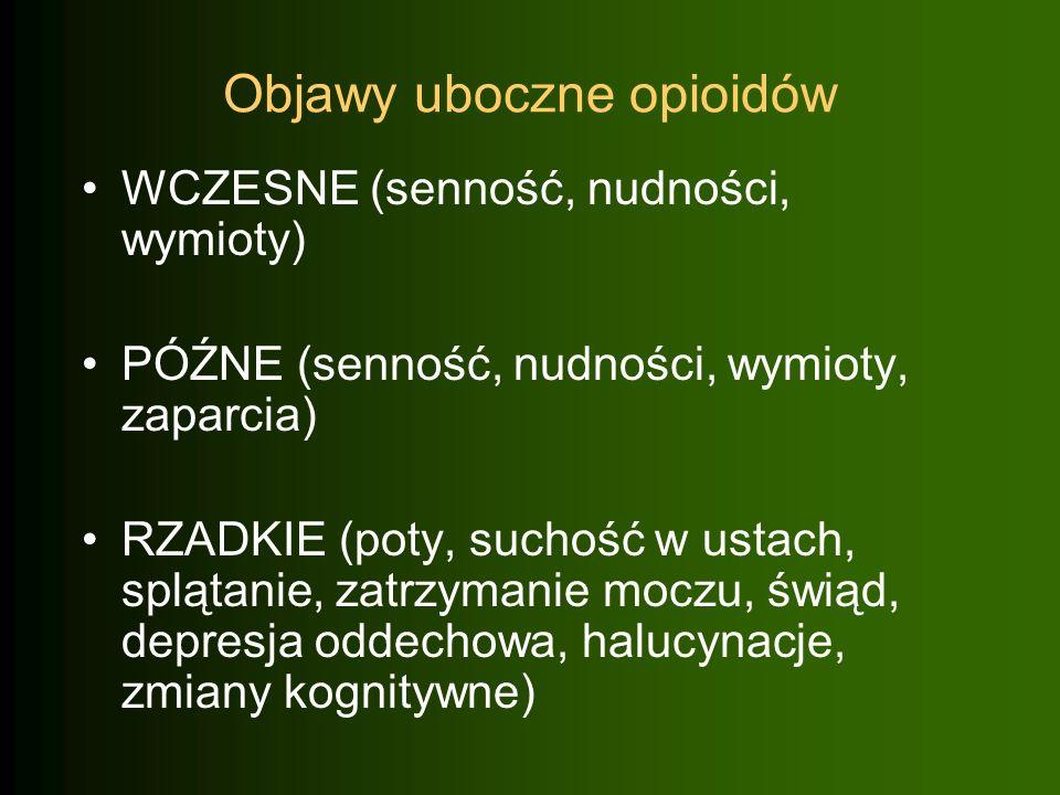 Objawy uboczne opioidów
