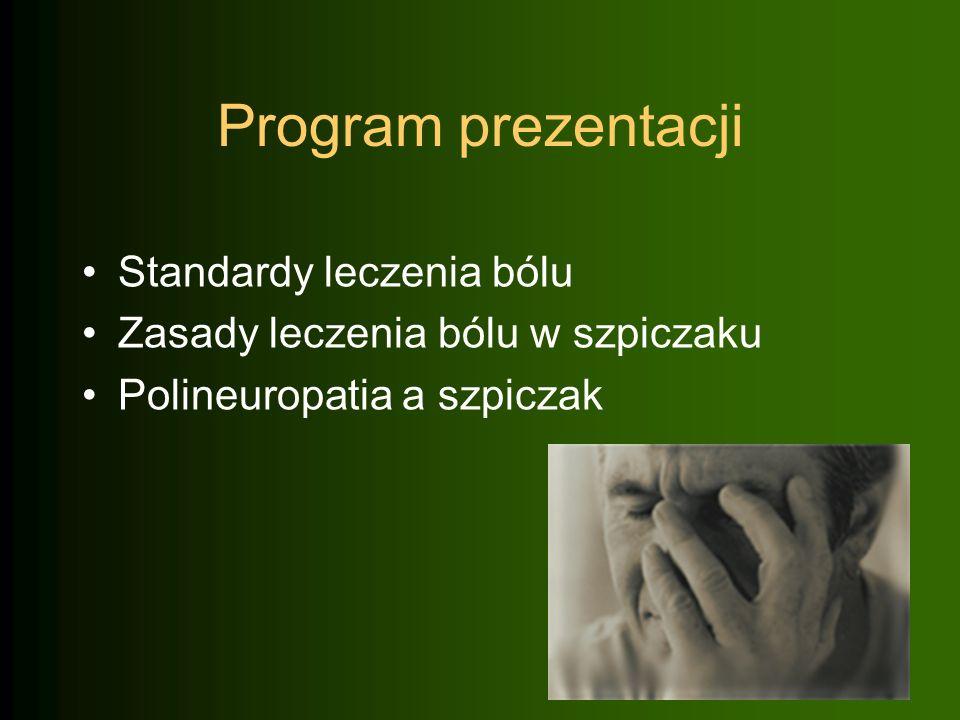Program prezentacji Standardy leczenia bólu