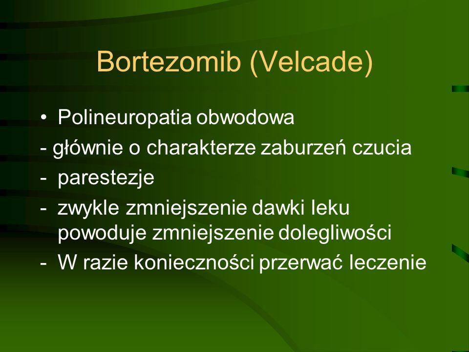 Bortezomib (Velcade) Polineuropatia obwodowa