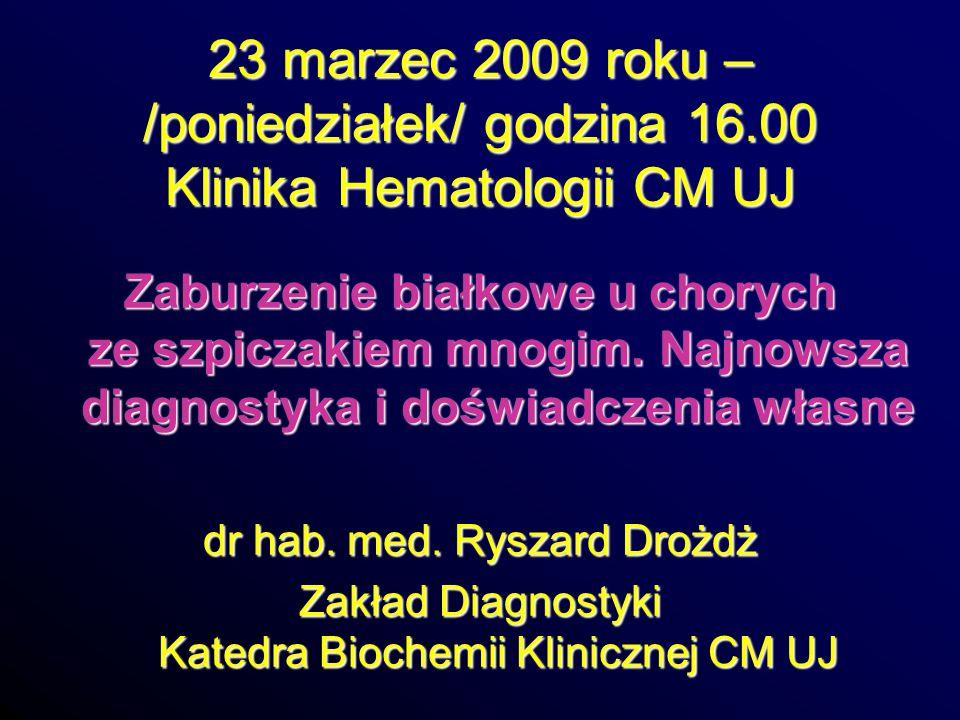 23 marzec 2009 roku – /poniedziałek/ godzina 16