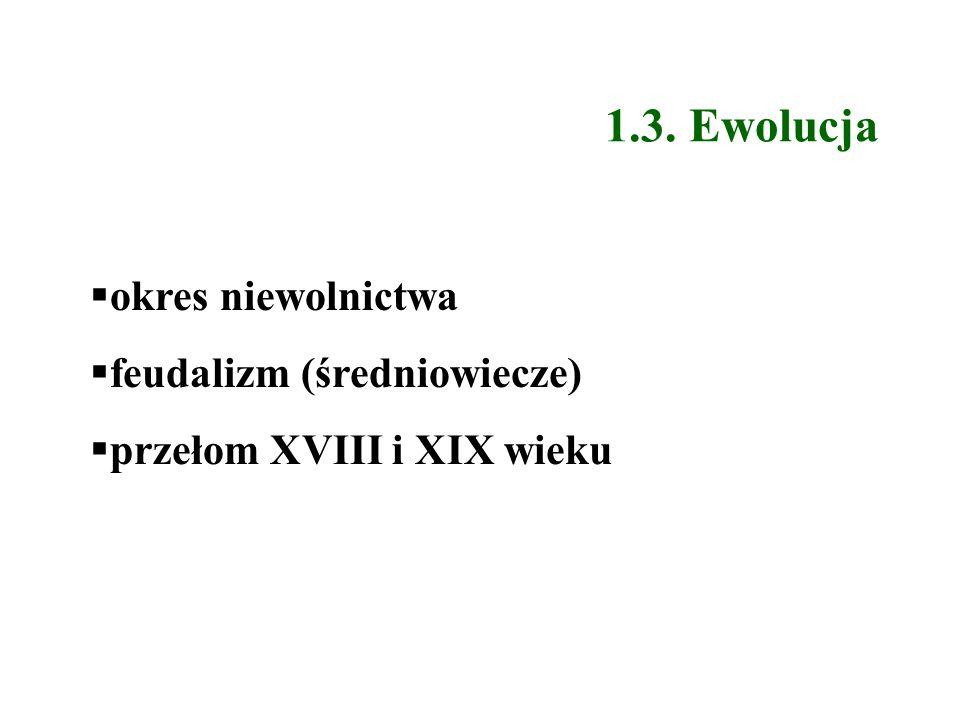 1.3. Ewolucja okres niewolnictwa feudalizm (średniowiecze)