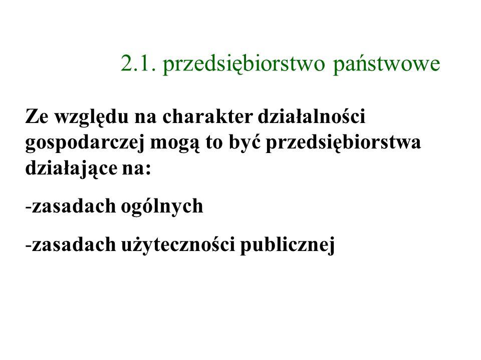 2.1. przedsiębiorstwo państwowe