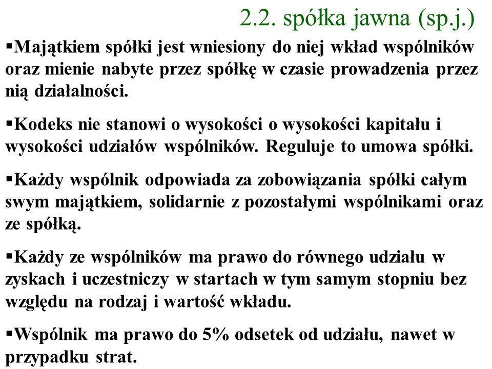 2.2. spółka jawna (sp.j.)