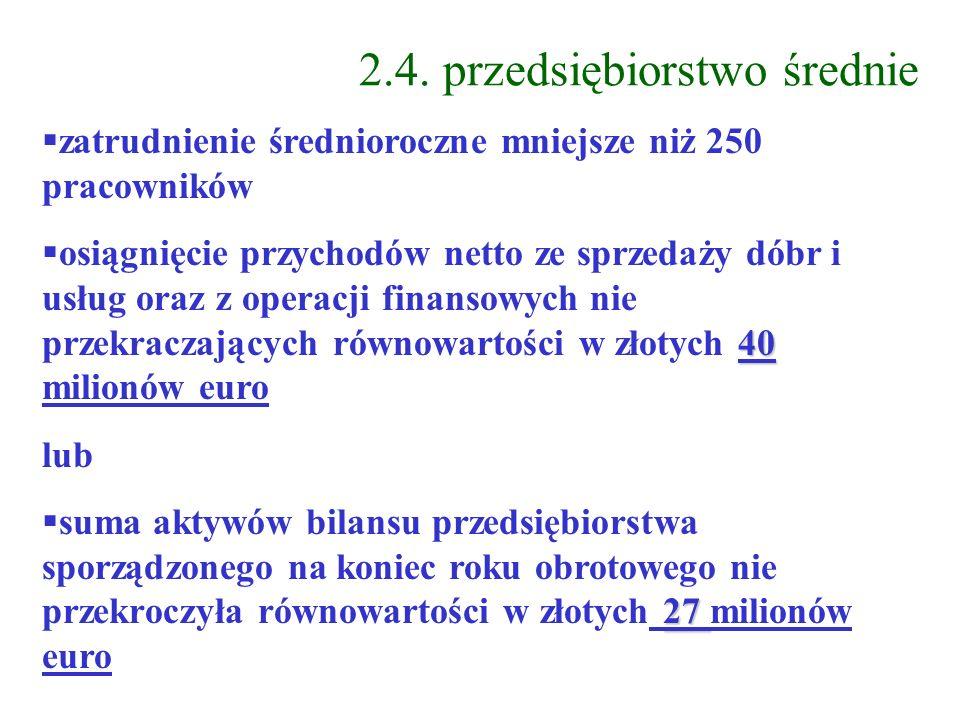 2.4. przedsiębiorstwo średnie