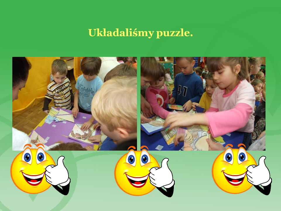 Układaliśmy puzzle.
