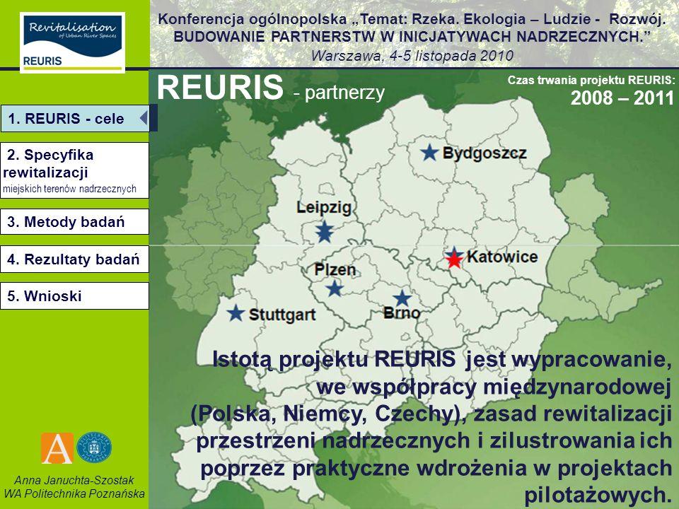 REURIS - partnerzyCzas trwania projektu REURIS: 2008 – 2011. 1. REURIS - cele. 2. Specyfika rewitalizacji.