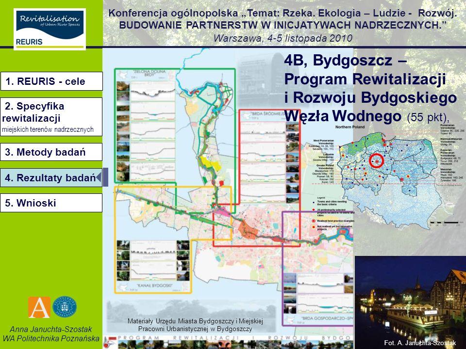 4B, Bydgoszcz – Program Rewitalizacji i Rozwoju Bydgoskiego Węzła Wodnego (55 pkt),