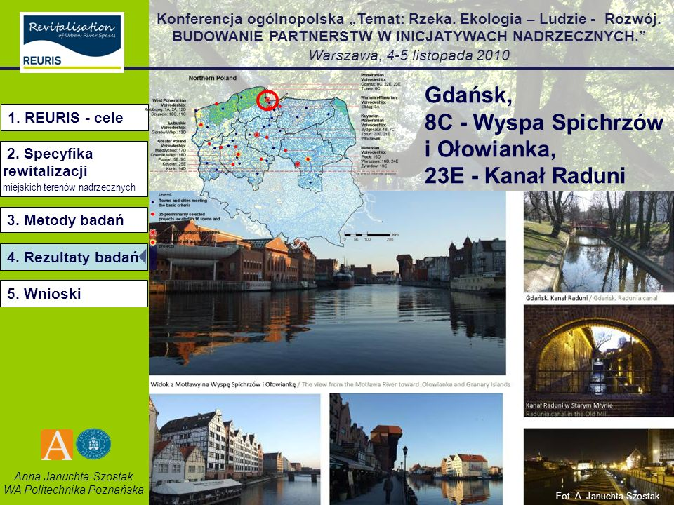 8C - Wyspa Spichrzów i Ołowianka, 23E - Kanał Raduni