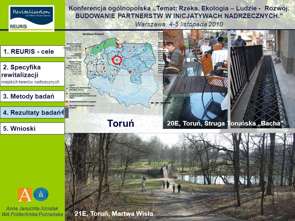 Toruń 1. REURIS - cele 2. Specyfika rewitalizacji 3. Metody badań