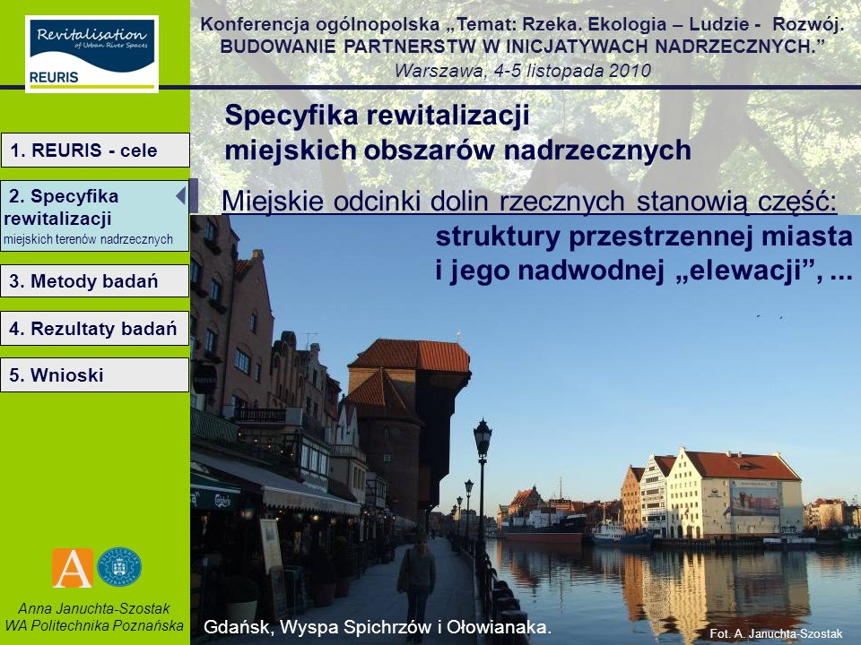 Specyfika rewitalizacji miejskich obszarów nadrzecznych