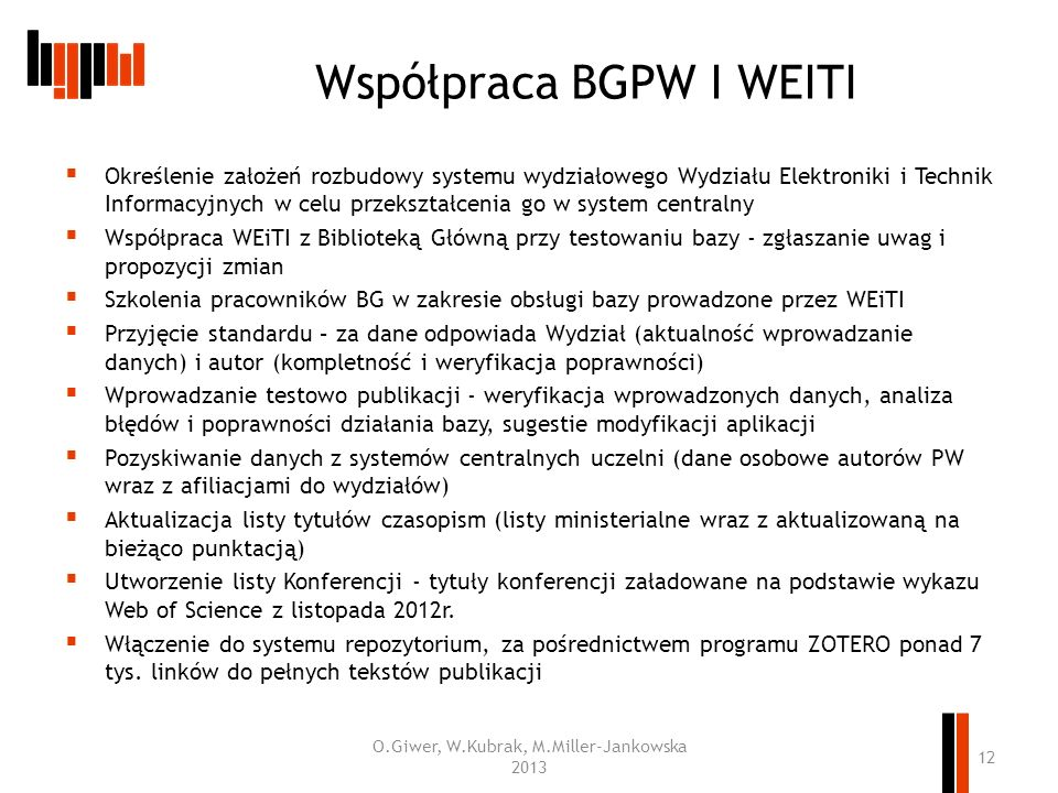 Współpraca BGPW I WEITI