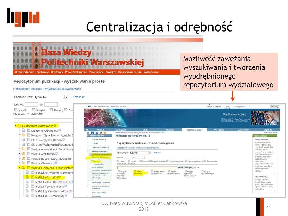Centralizacja i odrębność
