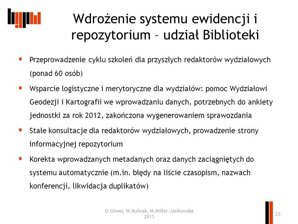 Wdrożenie systemu ewidencji i repozytorium – udział Biblioteki