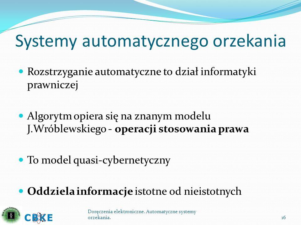 Systemy automatycznego orzekania
