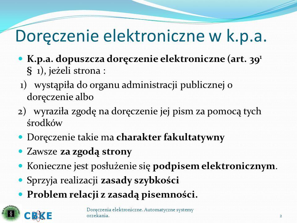 Doręczenie elektroniczne w k.p.a.