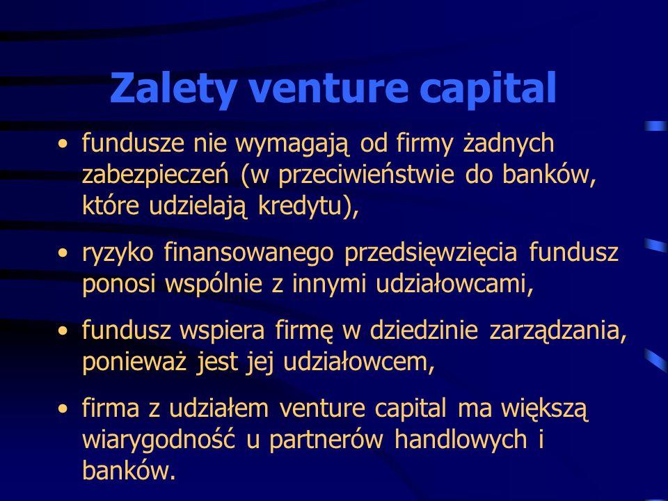 Zalety venture capital