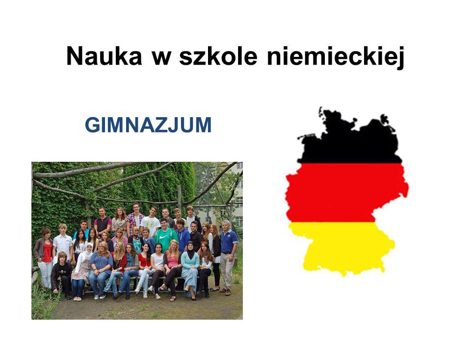 Nauka w szkole niemieckiej