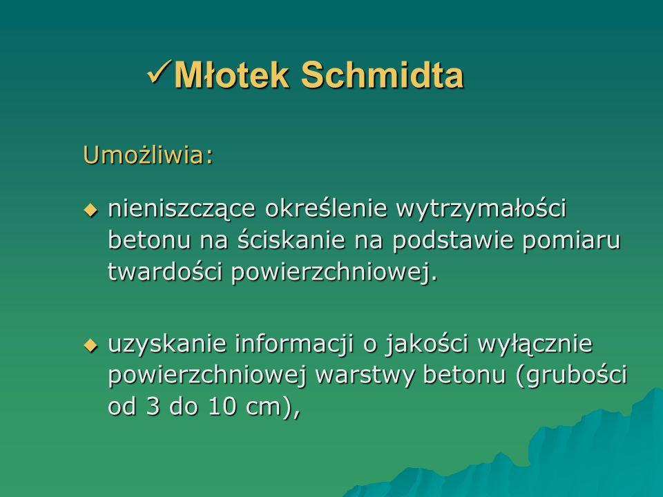Młotek Schmidta Umożliwia: