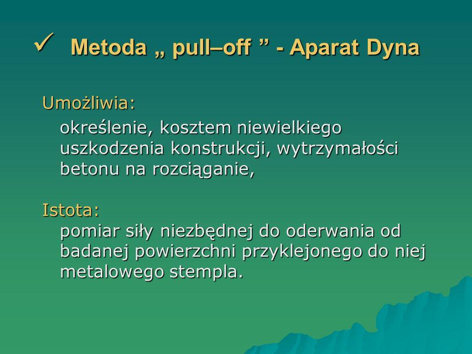 "Metoda "" pull–off - Aparat Dyna"