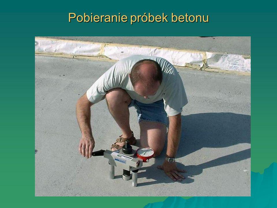 Pobieranie próbek betonu