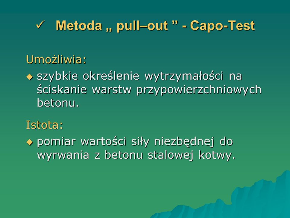 "Metoda "" pull–out - Capo-Test"