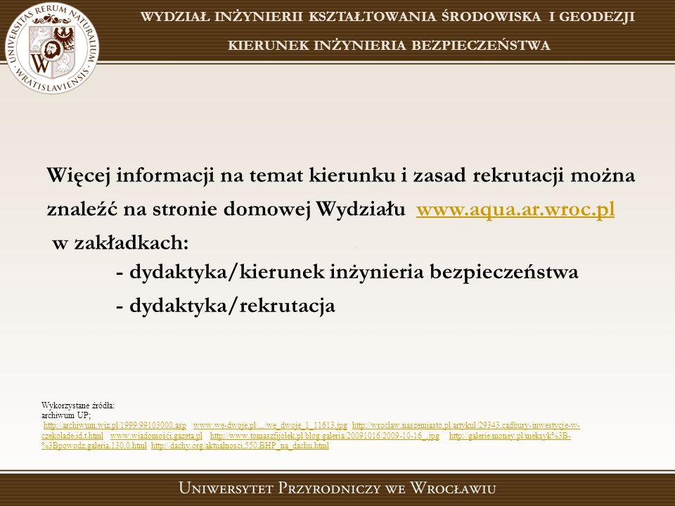 - dydaktyka/kierunek inżynieria bezpieczeństwa - dydaktyka/rekrutacja