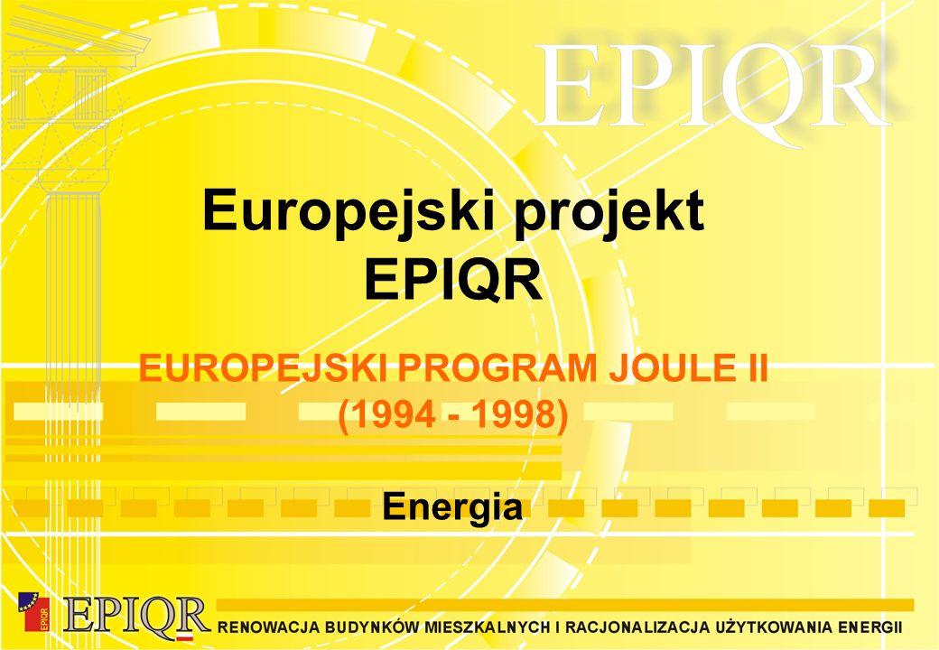 EUROPEJSKI PROGRAM JOULE II (1994 - 1998) Energia