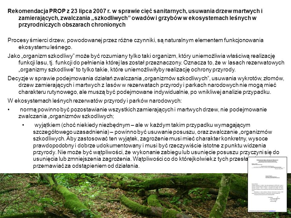 Rekomendacja PROP z 23 lipca 2007 r