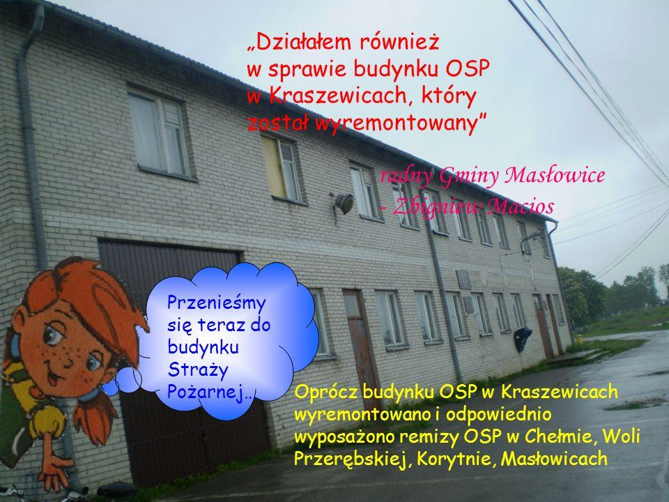 radny Gminy Masłowice - Zbigniew Macios