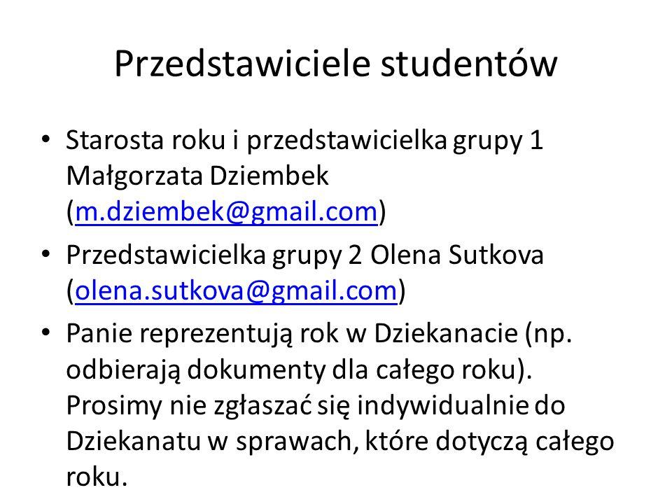 Przedstawiciele studentów