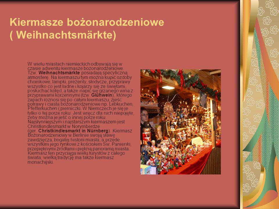 Kiermasze bożonarodzeniowe ( Weihnachtsmärkte)