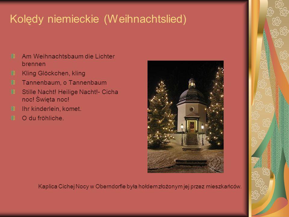 Kolędy niemieckie (Weihnachtslied)