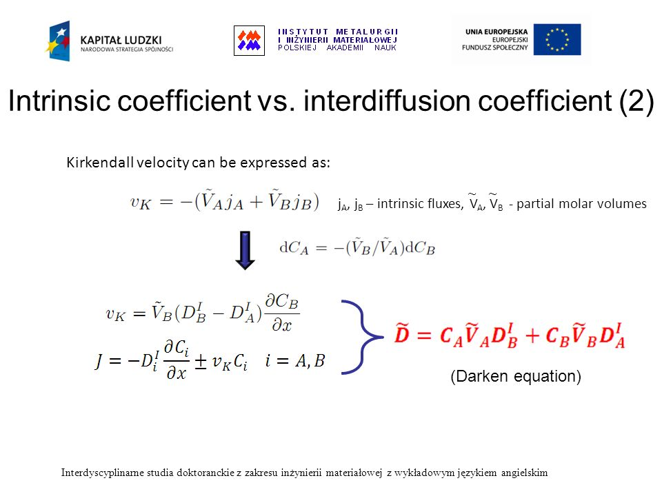 Intrinsic coefficient vs. interdiffusion coefficient (2)