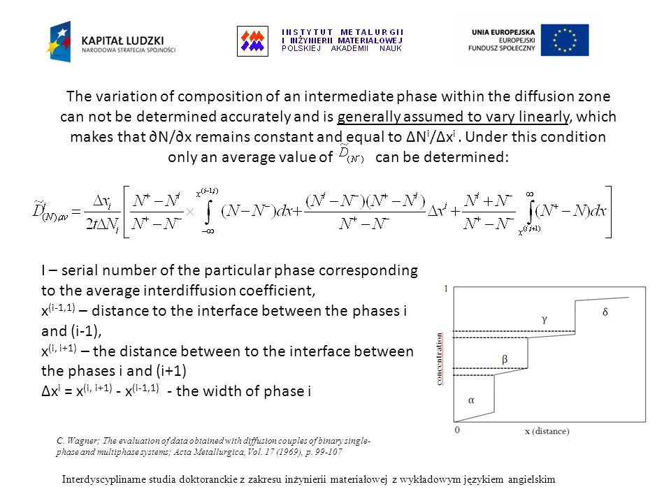 x(i-1,1) – distance to the interface between the phases i and (i-1),