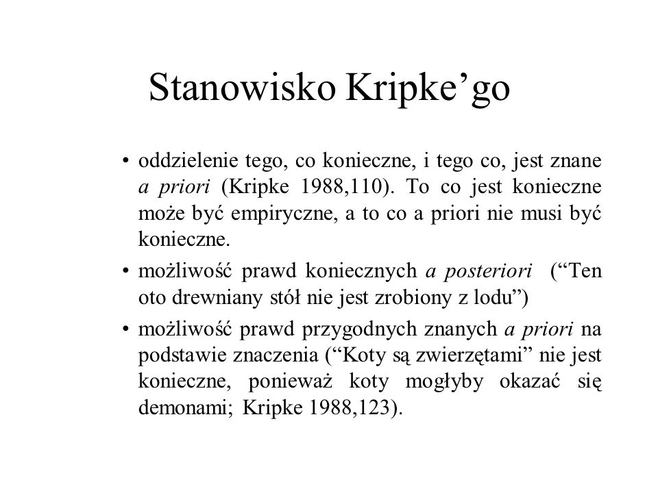 Stanowisko Kripke'go