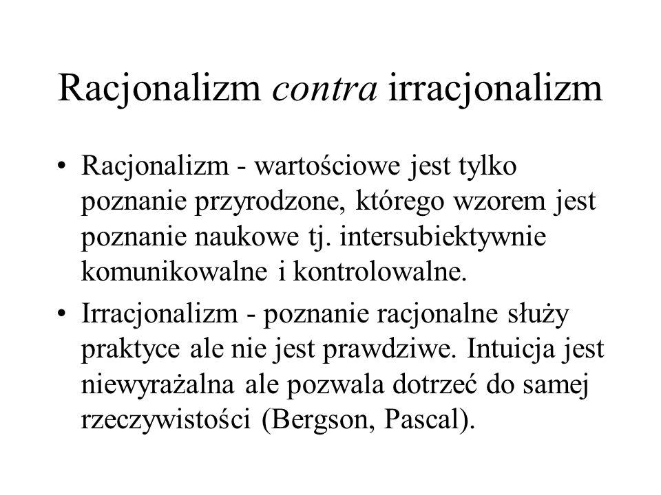 Racjonalizm contra irracjonalizm